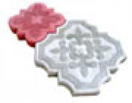 Брусчатка клевер краковский серый (298*298*45)